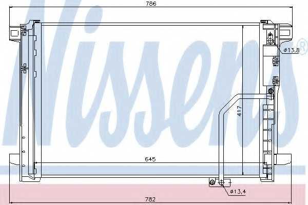 Конденсатор кондиционера NISSENS 940035 - изображение