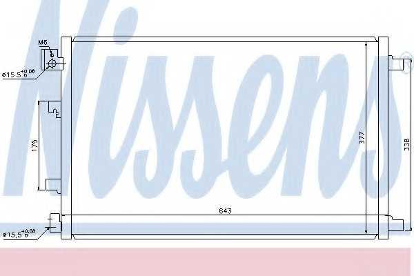 Конденсатор кондиционера NISSENS 940038 - изображение