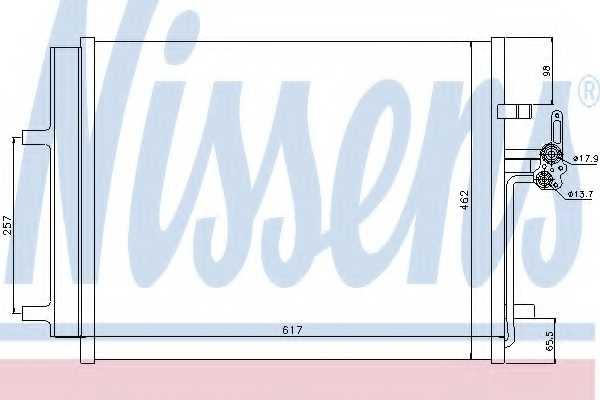 Конденсатор кондиционера NISSENS 940043 - изображение