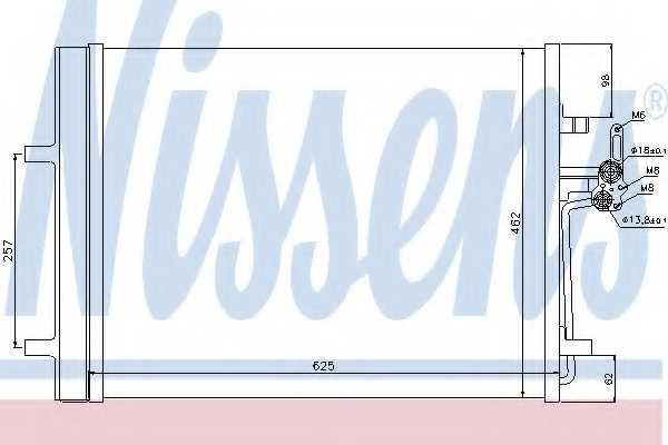 Конденсатор кондиционера NISSENS 940044 - изображение