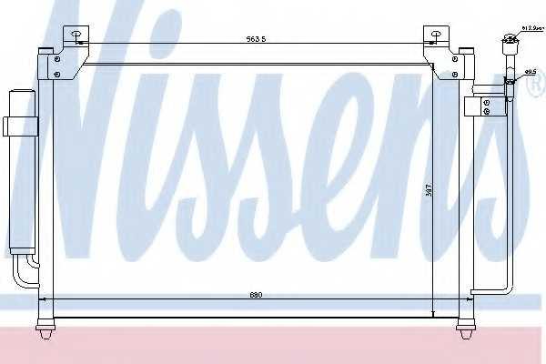 Конденсатор кондиционера NISSENS 940049 - изображение