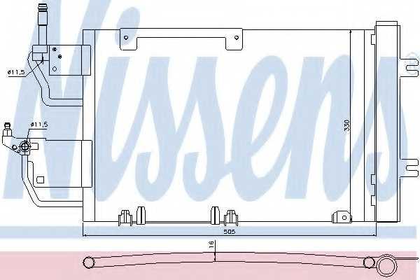 Конденсатор кондиционера NISSENS 940052 - изображение