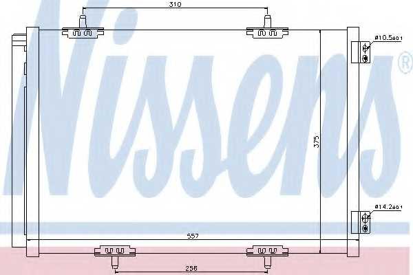 Конденсатор кондиционера NISSENS 940055 - изображение