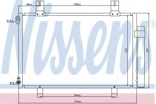 Конденсатор кондиционера NISSENS 940057 - изображение