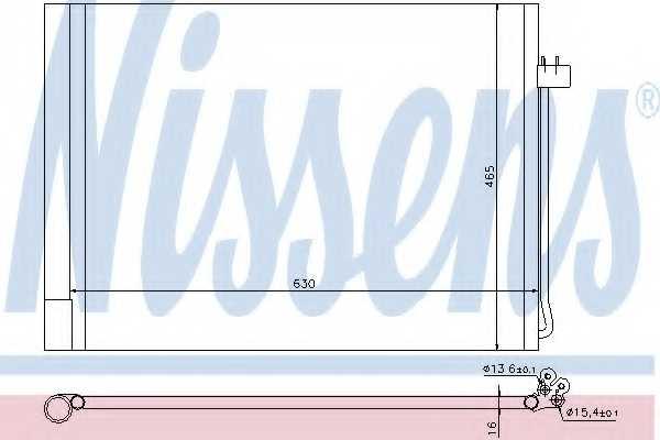 Конденсатор кондиционера NISSENS 940058 - изображение