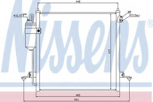 Конденсатор кондиционера NISSENS 940068 - изображение