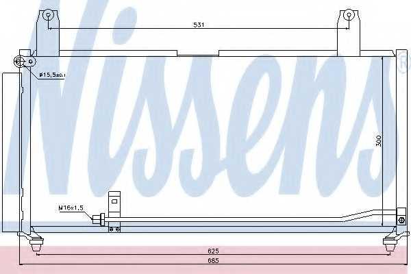 Конденсатор кондиционера NISSENS 940080 - изображение
