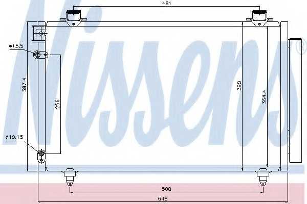 Конденсатор кондиционера NISSENS 940081 - изображение