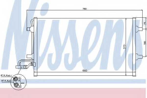 Конденсатор кондиционера NISSENS 940086 - изображение