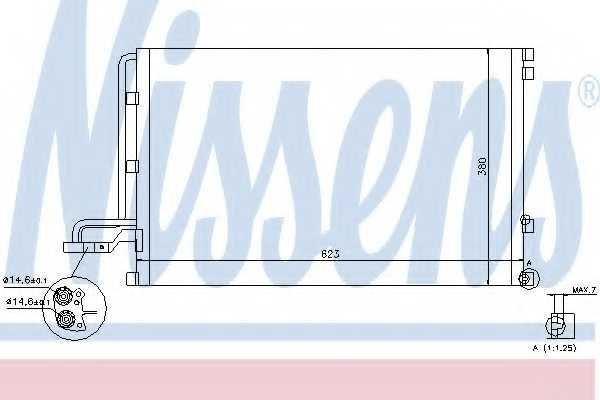 Конденсатор кондиционера NISSENS 940087 - изображение