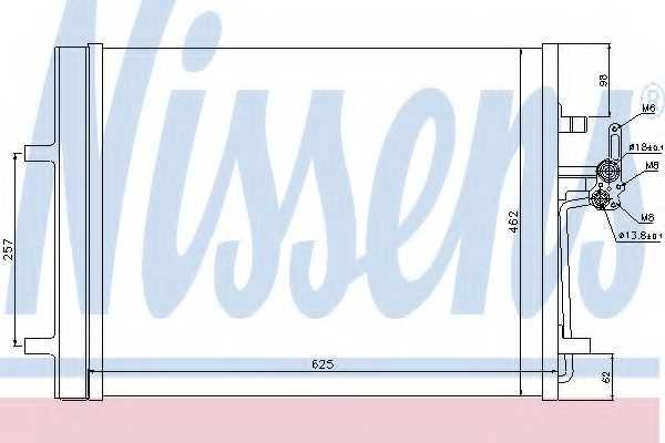 Конденсатор кондиционера NISSENS 940088 - изображение