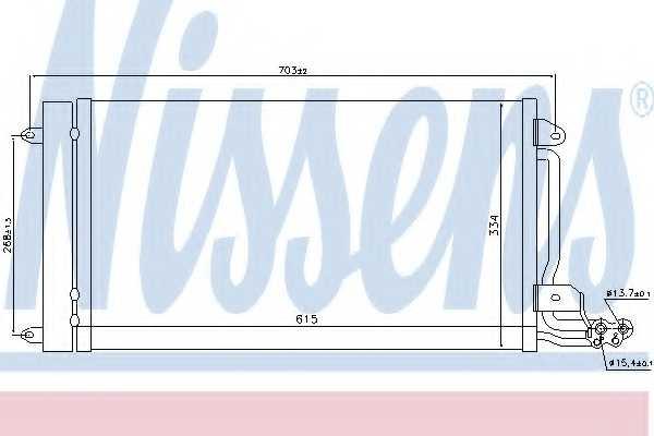 Конденсатор кондиционера NISSENS 940093 - изображение