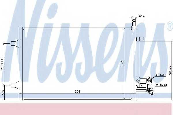 Конденсатор кондиционера NISSENS 940097 - изображение