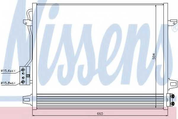Конденсатор кондиционера NISSENS 940098 - изображение