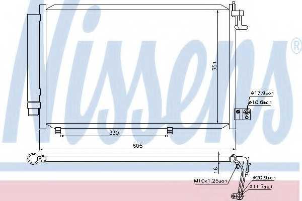 Конденсатор кондиционера NISSENS 940108 - изображение