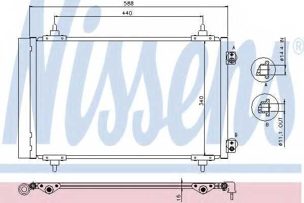 Конденсатор кондиционера NISSENS 940111 - изображение
