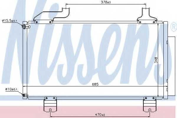 Конденсатор кондиционера NISSENS 940114 - изображение