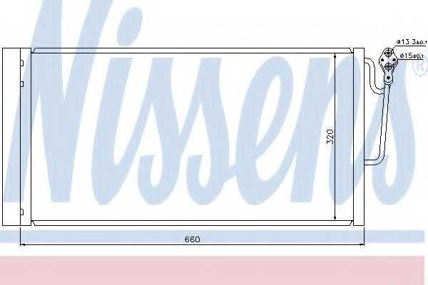 Конденсатор кондиционера NISSENS 940118 - изображение