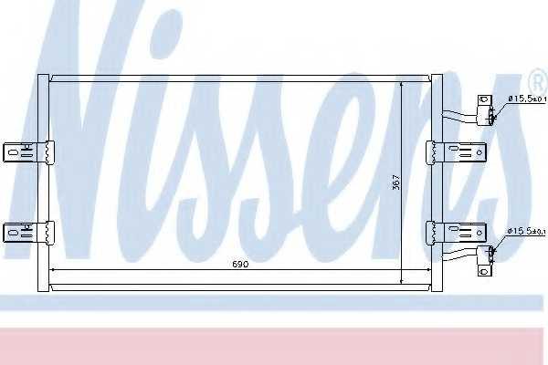Конденсатор кондиционера NISSENS 940119 - изображение