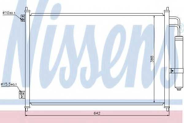 Конденсатор кондиционера NISSENS 940121 - изображение