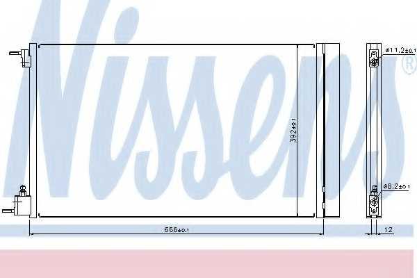 Конденсатор кондиционера NISSENS 940124 - изображение