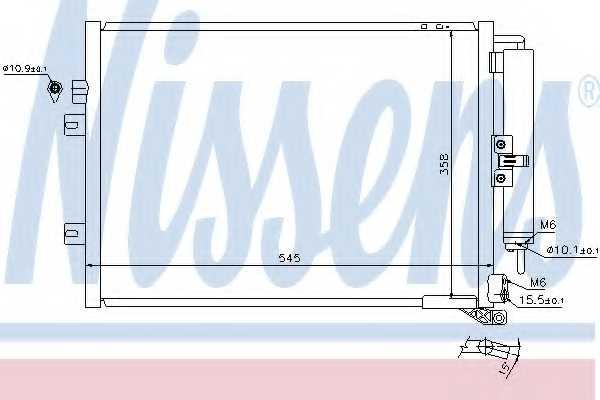 Конденсатор кондиционера NISSENS 940125 - изображение