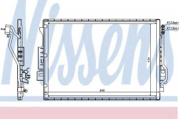 Конденсатор кондиционера NISSENS 940137 - изображение
