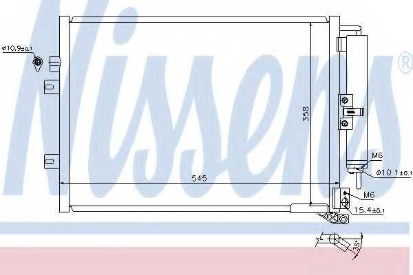 Конденсатор кондиционера NISSENS 940142 - изображение