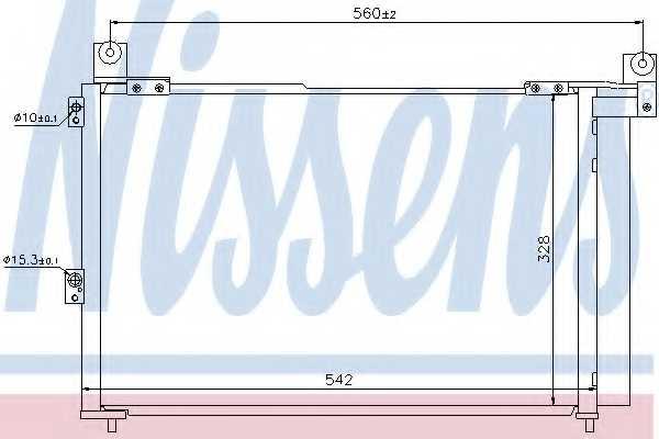 Конденсатор кондиционера NISSENS 940143 - изображение