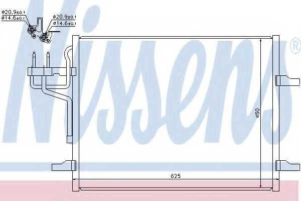 Конденсатор кондиционера NISSENS 940144 - изображение