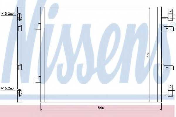 Конденсатор кондиционера NISSENS 940147 - изображение
