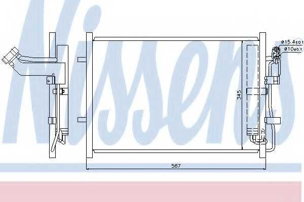 Конденсатор кондиционера NISSENS 940148 - изображение