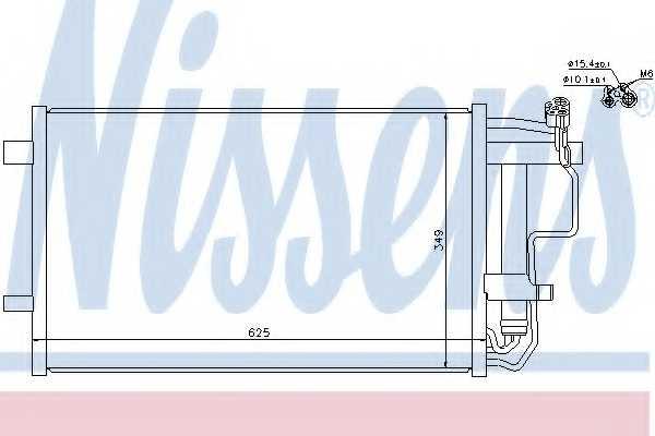 Конденсатор кондиционера NISSENS 940149 - изображение