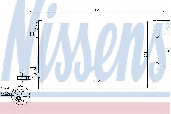 Конденсатор кондиционера NISSENS 940154 - изображение