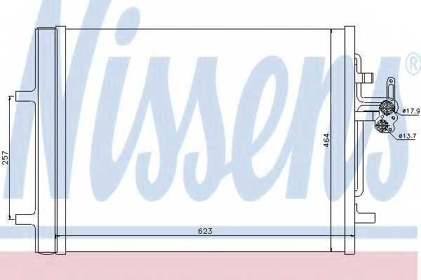 Конденсатор кондиционера NISSENS 940155 - изображение