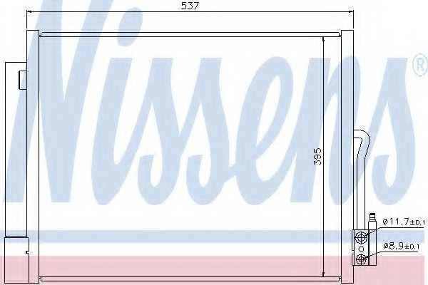 Конденсатор кондиционера NISSENS 940156 - изображение
