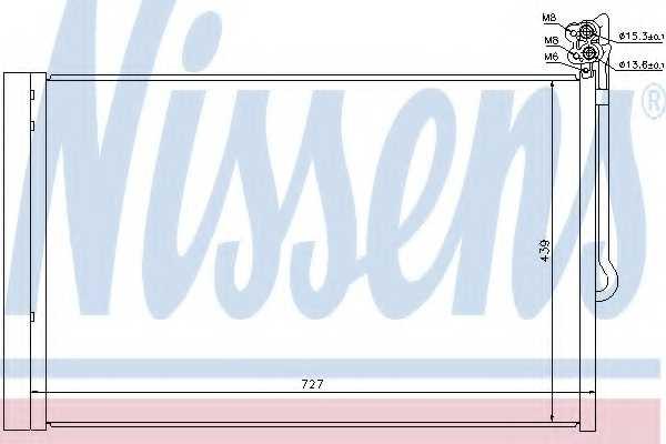 Конденсатор кондиционера NISSENS 940157 - изображение