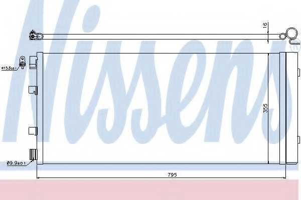 Конденсатор кондиционера NISSENS 940158 - изображение