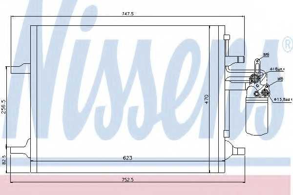 Конденсатор кондиционера NISSENS 940159 - изображение