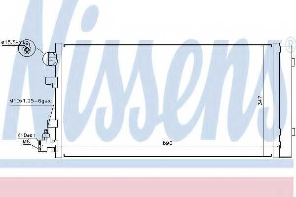 Конденсатор кондиционера NISSENS 940160 - изображение