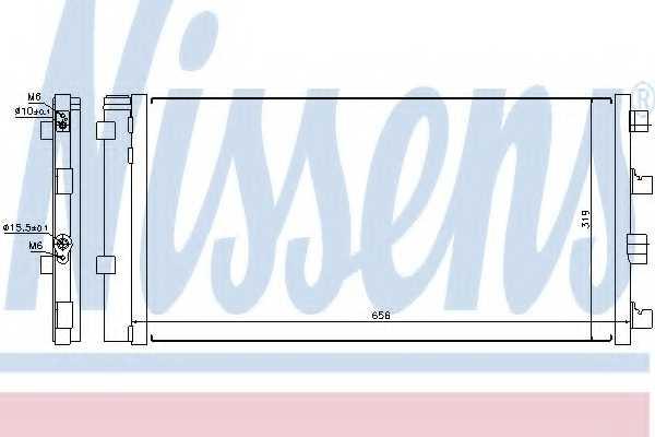Конденсатор кондиционера NISSENS 940161 - изображение