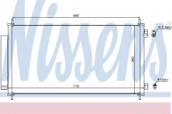 Конденсатор кондиционера NISSENS 940163 - изображение