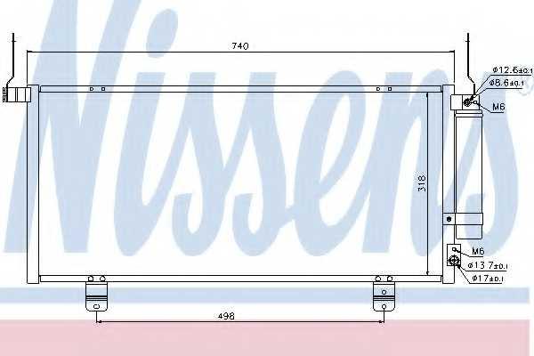 Конденсатор кондиционера NISSENS 940164 - изображение