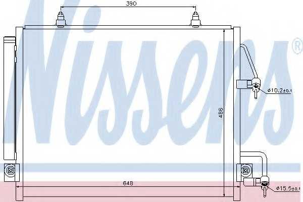 Конденсатор кондиционера NISSENS 940166 - изображение