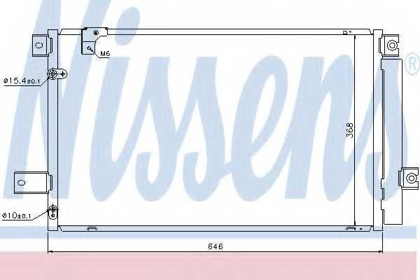 Конденсатор кондиционера NISSENS 940170 - изображение