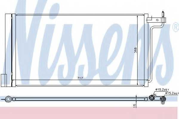 Конденсатор кондиционера NISSENS 940181 - изображение