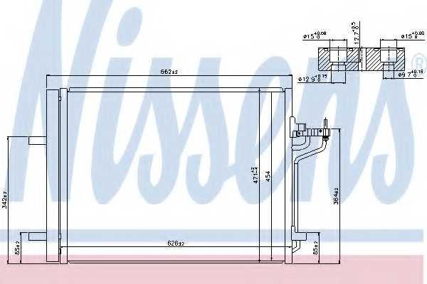 Конденсатор кондиционера NISSENS 940183 - изображение