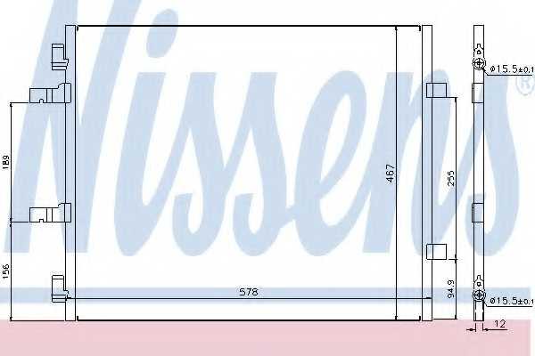 Конденсатор кондиционера NISSENS 940201 - изображение