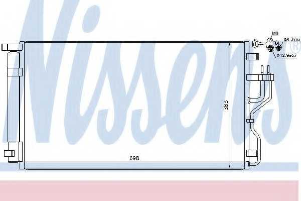 Конденсатор кондиционера NISSENS 940208 - изображение