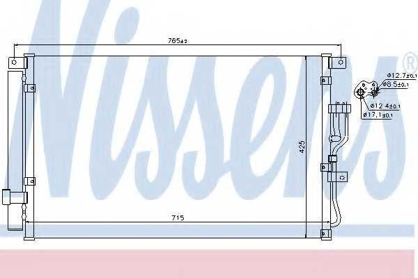 Конденсатор кондиционера NISSENS 940210 - изображение